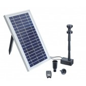 PondoSolar 600 Control Solar Teichpumpen Set mit Akku, Fernsteuerung & LED