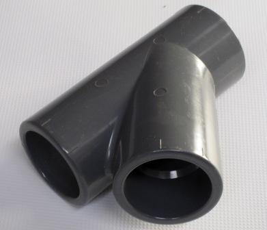 T-Stück 45°, 40 mm, 3 x Klebemuffe