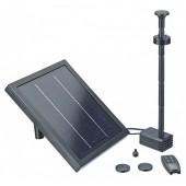 PondoSolar 250 Control Solar Teichpumpenset mit Akku und LED